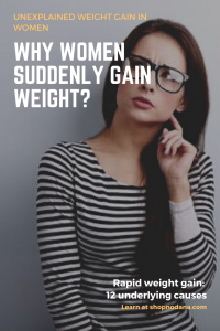 sudden weight gain- Why women suddenly gain weight_