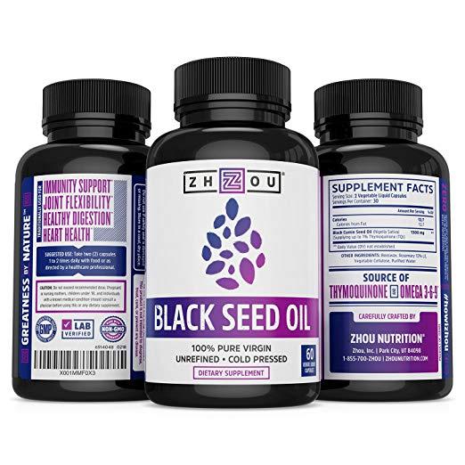 Black seed oil capsule