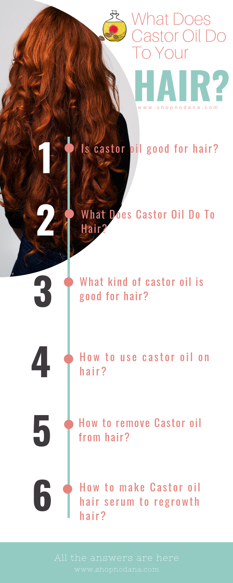 Castor oil benefits for hair