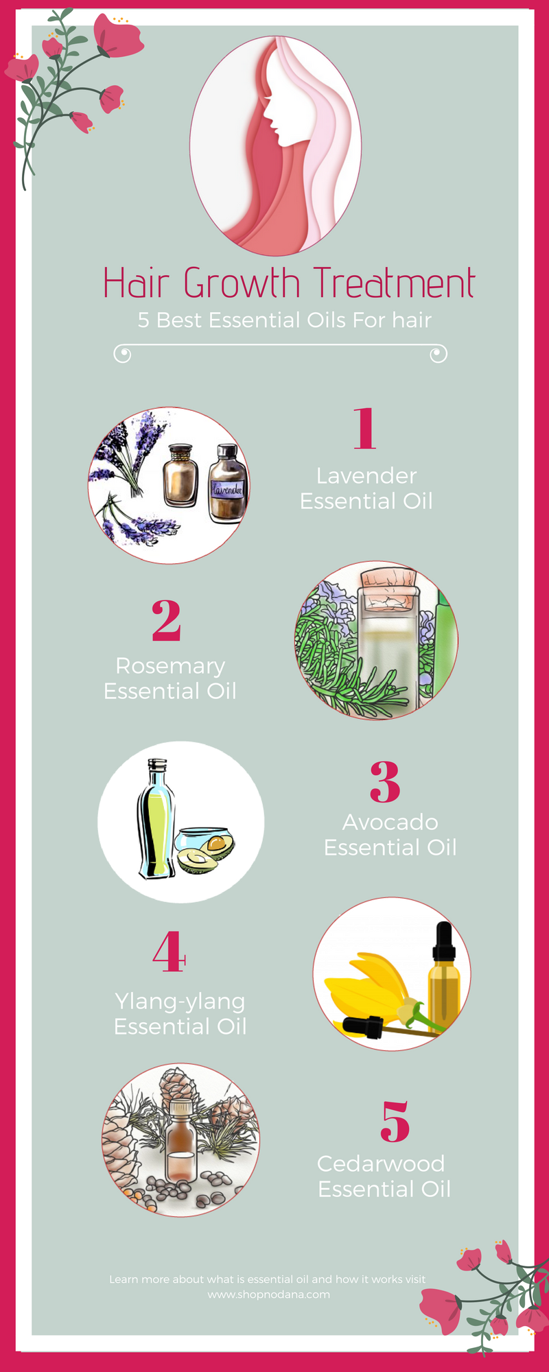 5 best essential hair oil for hair growth treatment -shopnodana