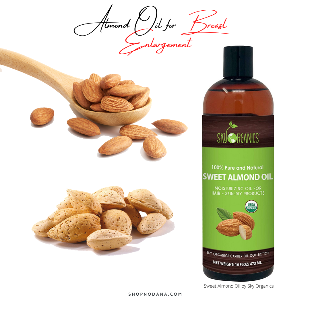 Almond oil for breast Enlargement -Sweet Almond Oil by Sky Organics