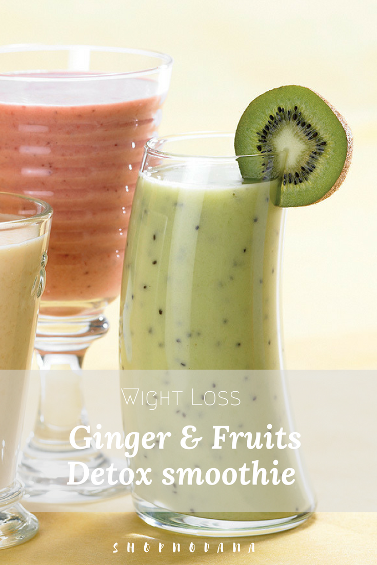 Ginger & Fruits Detox smoothie recipe for weight loss