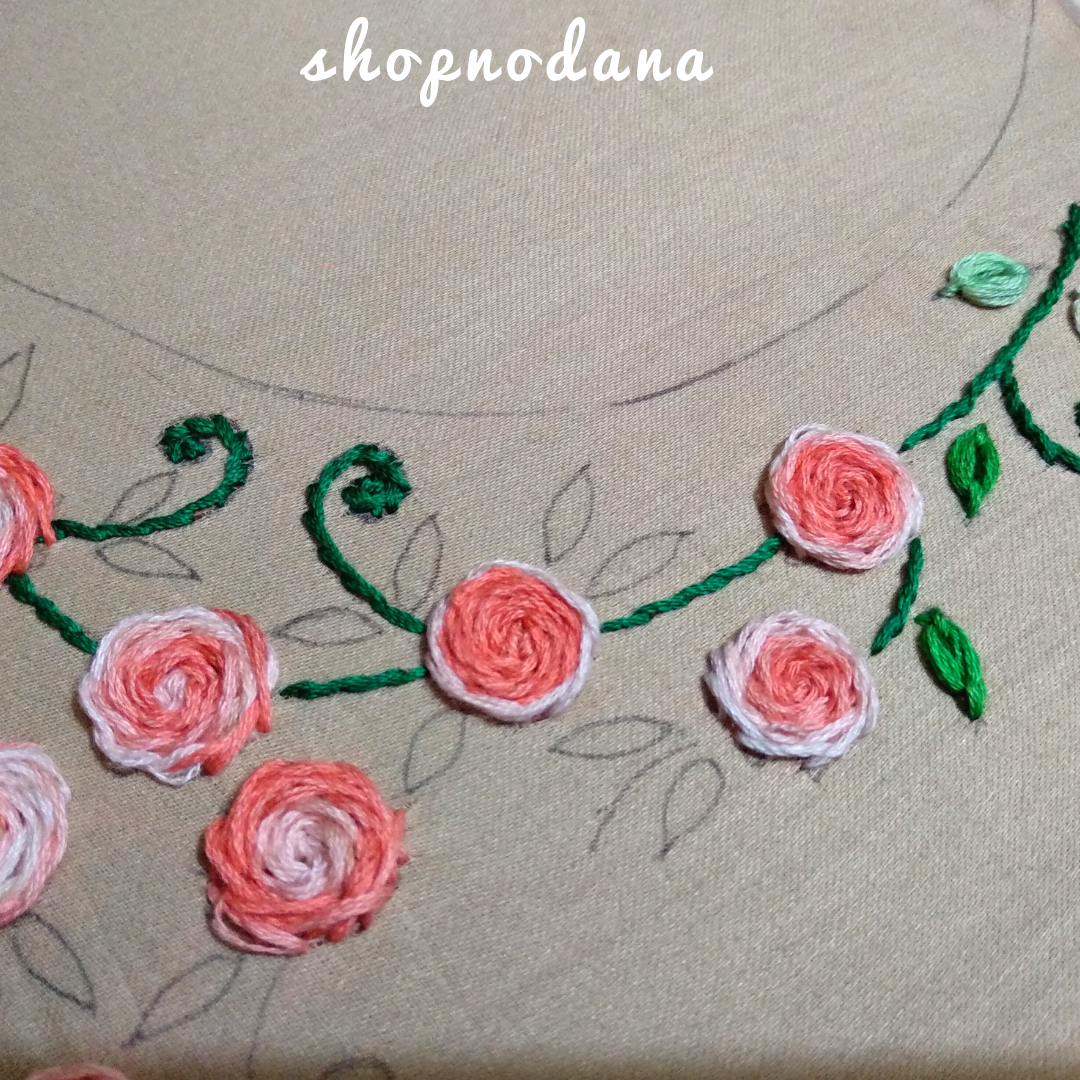 hand embroidery design for neck