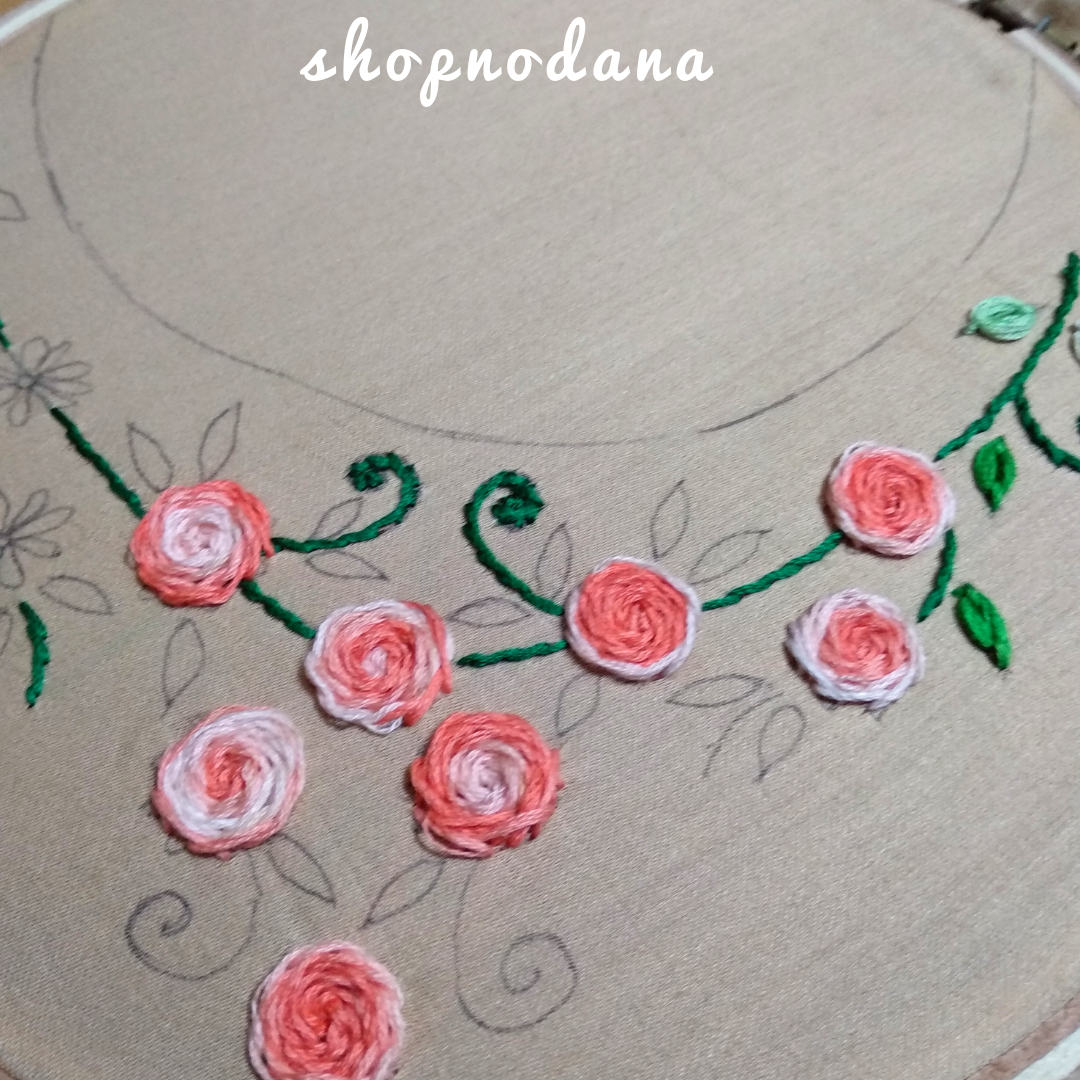 Hand Embroidery designs for neck