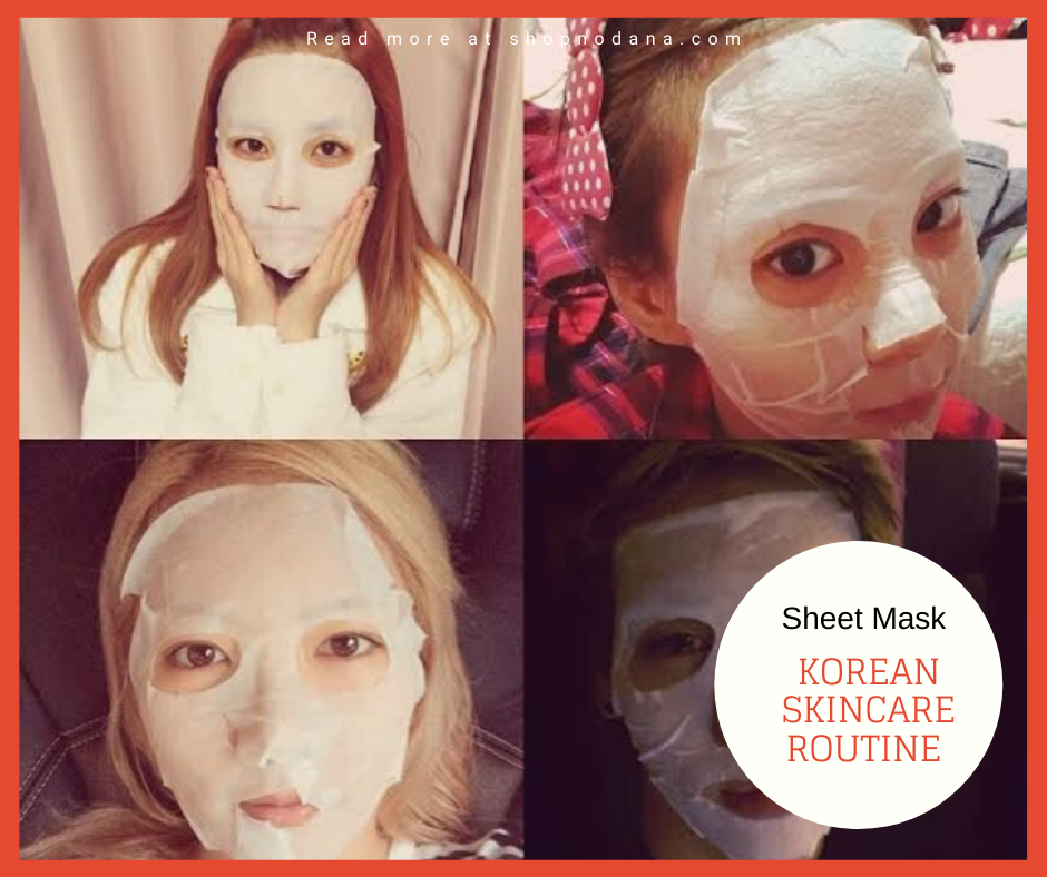 Korean skincare routine for a healthy and moist face