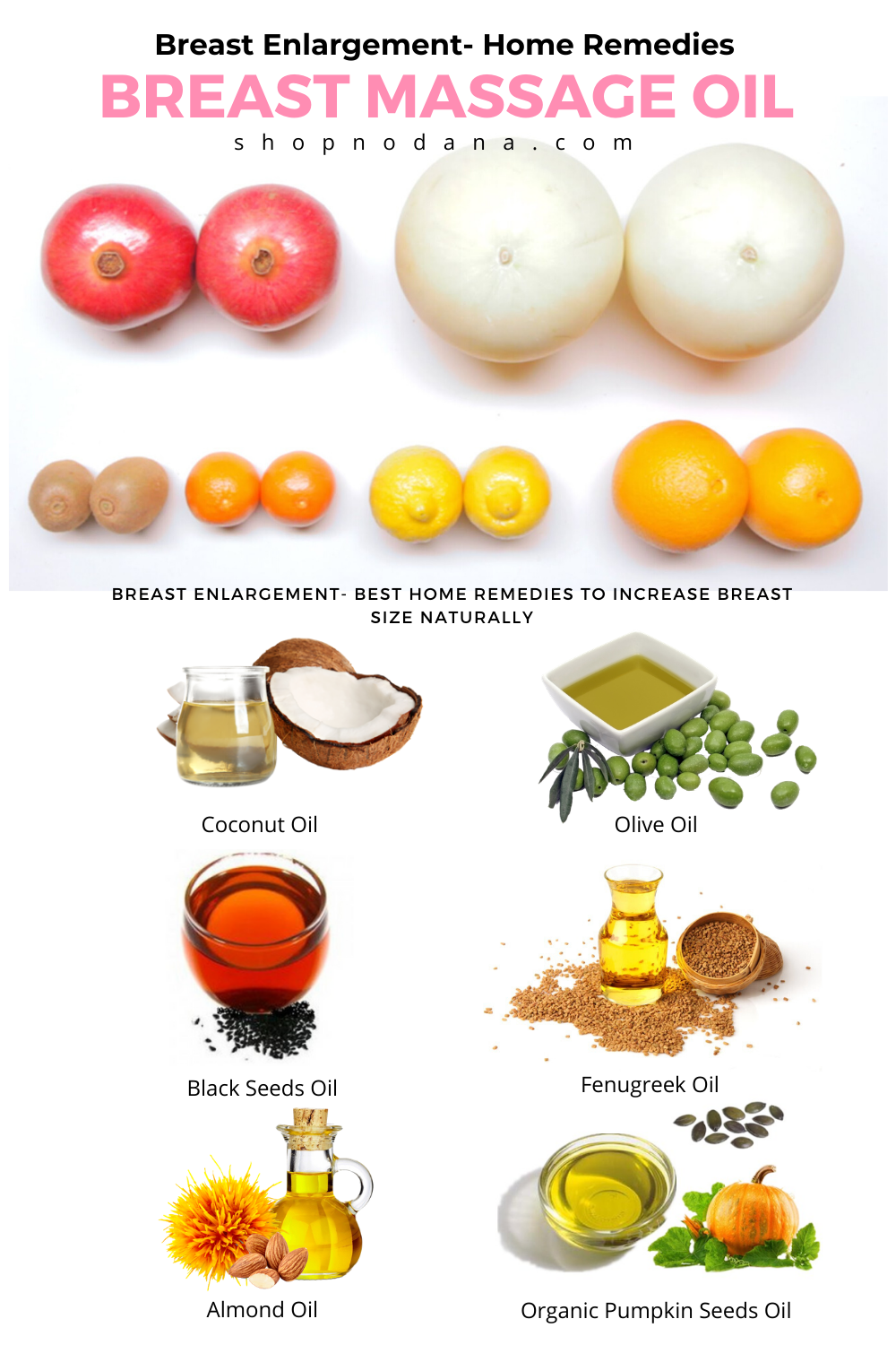 Breast Enlargement- Home Remedies- Breast Massage oil