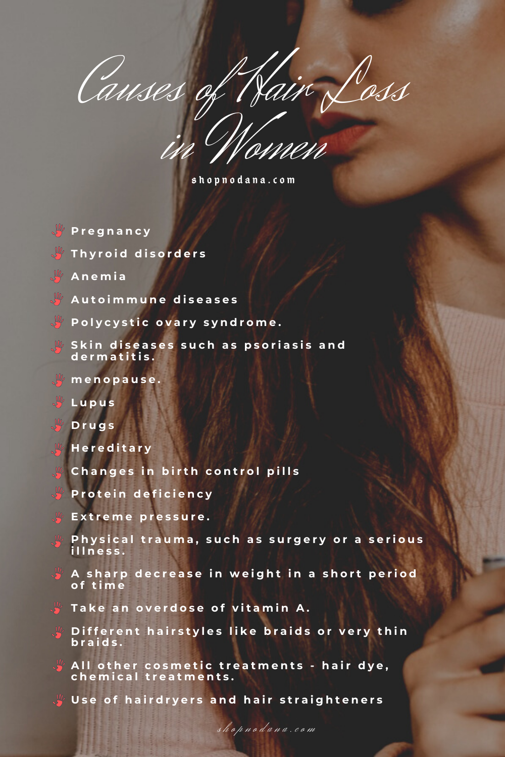 Causes of hair loss in women-shopnodana