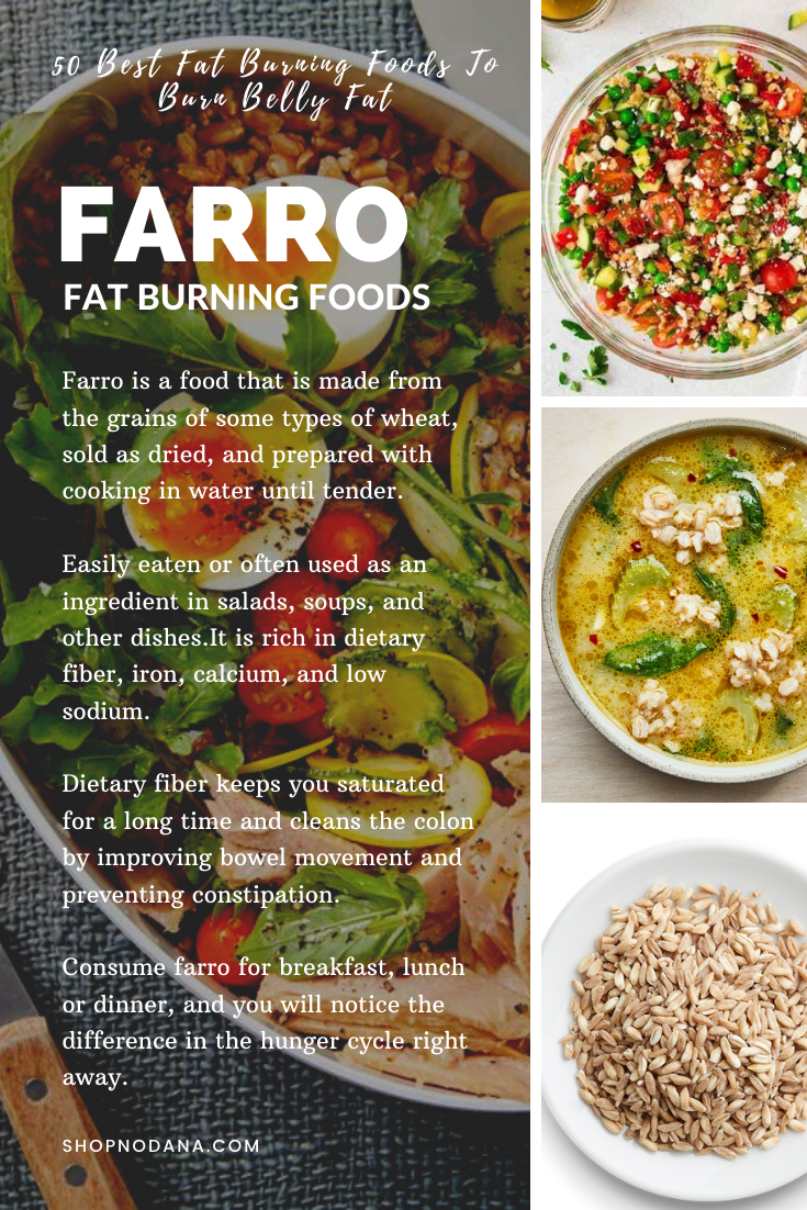 Farro- 50 Best Fat Burning Foods And Drinks To Burn Belly Fat