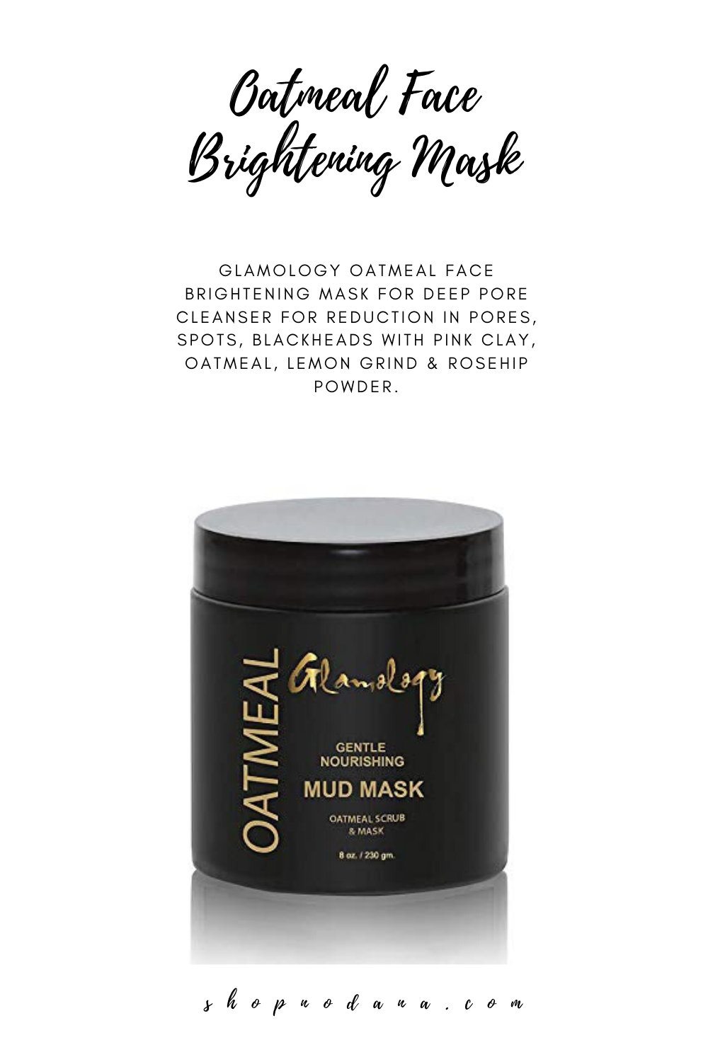 Oatmeal Face Brightening Mask