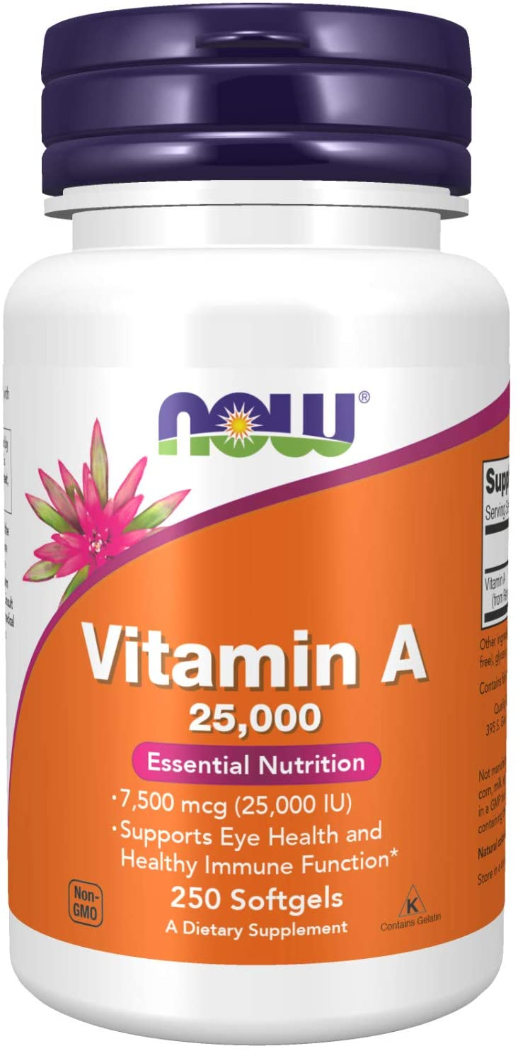 NOW Supplements, Vitamin A (Fish Liver Oil) for hair and nail