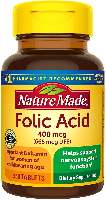 Nature Made Folic Acid for hair and nails