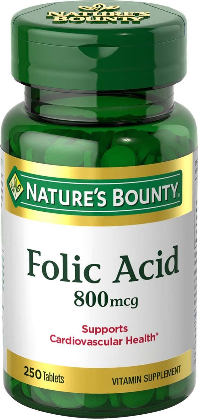 Nature's Bounty Folic Acid Supplement for nails
